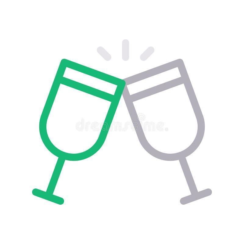 Discrimination raciale mince de boissons icône de vecteur illustration stock