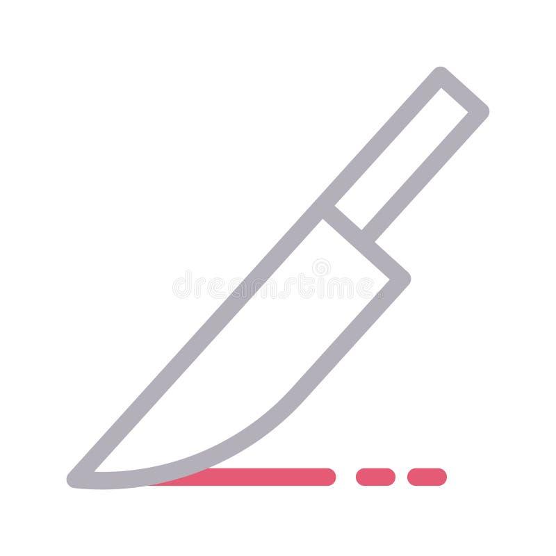 Discrimination raciale mince de couteau icône de vecteur illustration stock