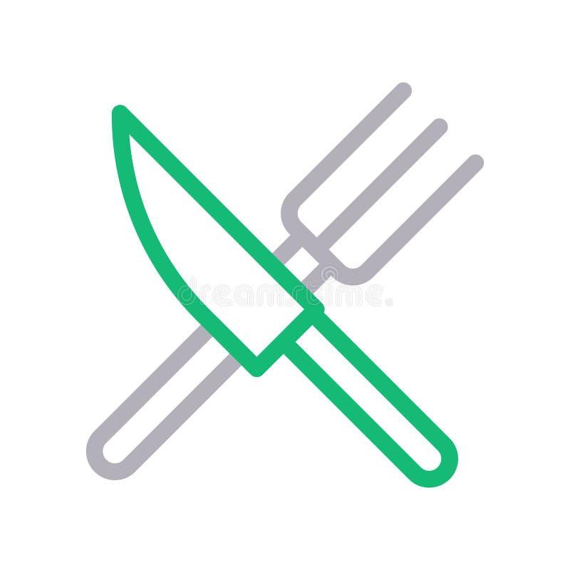 Discrimination raciale mince de couteau ic?ne de vecteur illustration libre de droits