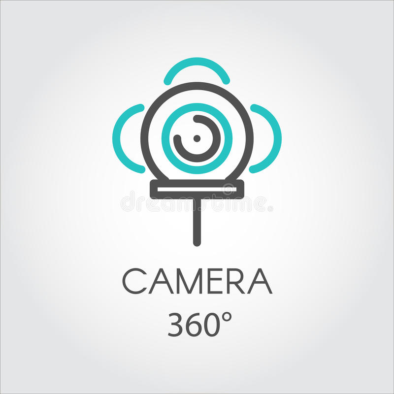 Discrimination raciale nouvel appareil-photo de vue de la technologie 3D d'icône 360 degrés illustration de vecteur