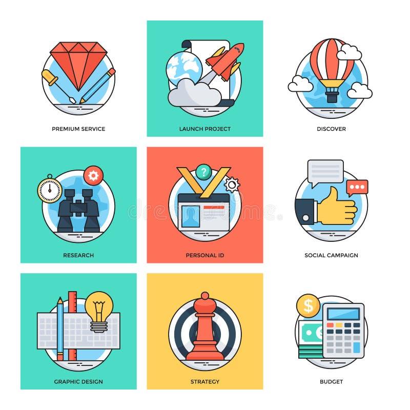 Discrimination raciale plate icônes 35 de vecteur de concepts de construction illustration de vecteur