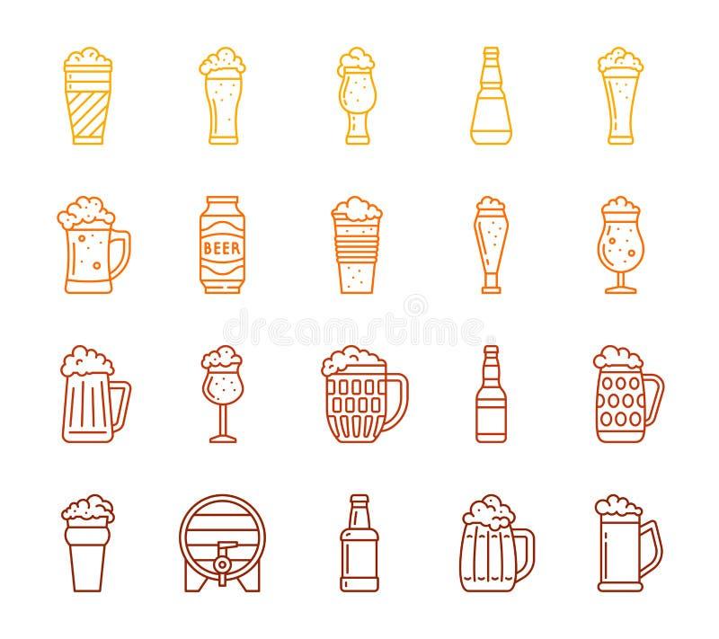 Discrimination raciale simple de tasse de bière ensemble de vecteur de barre de bar d'icône illustration de vecteur