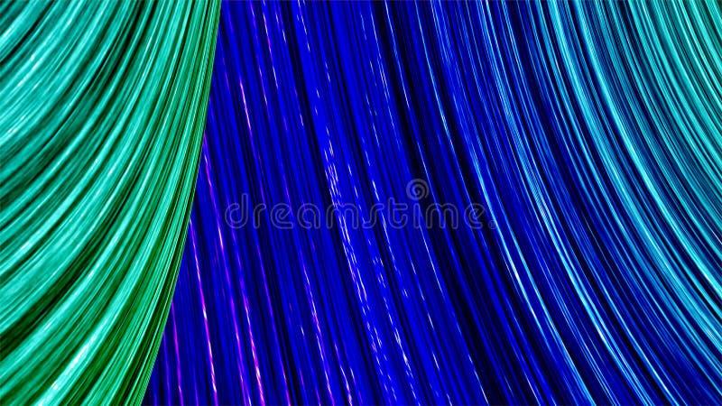 Discriminations raciales abstraites bleues et illustration 3d verte illustration stock