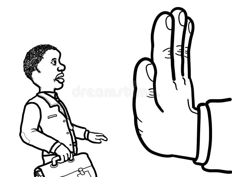 Discriminazione razziale di occupazione royalty illustrazione gratis