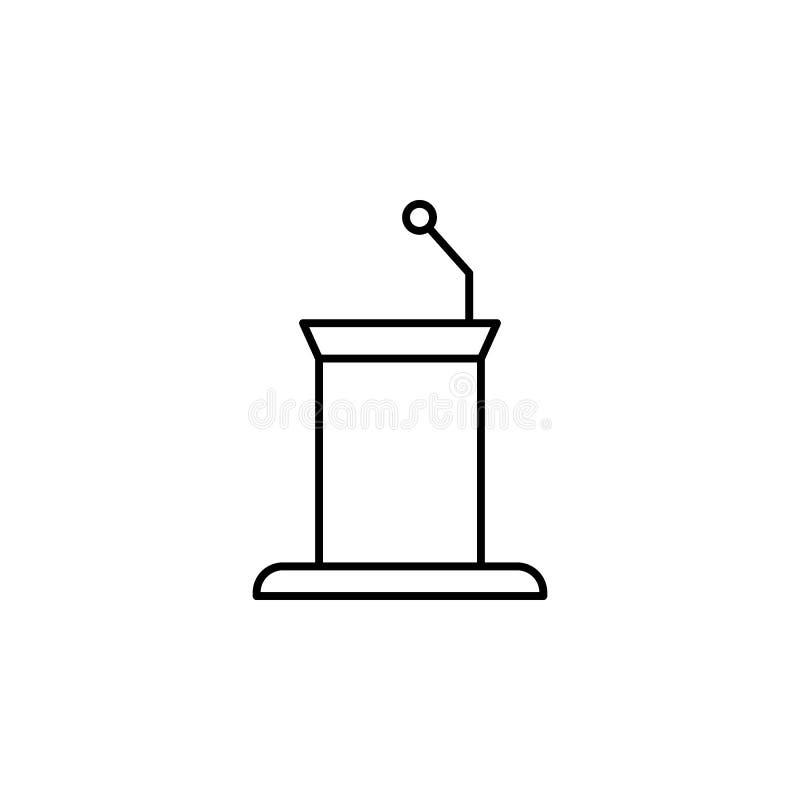discurso, ícone do esboço da morte grupo detalhado de ícones das ilustrações da morte Pode ser usado para a Web, logotipo, app m? ilustração stock