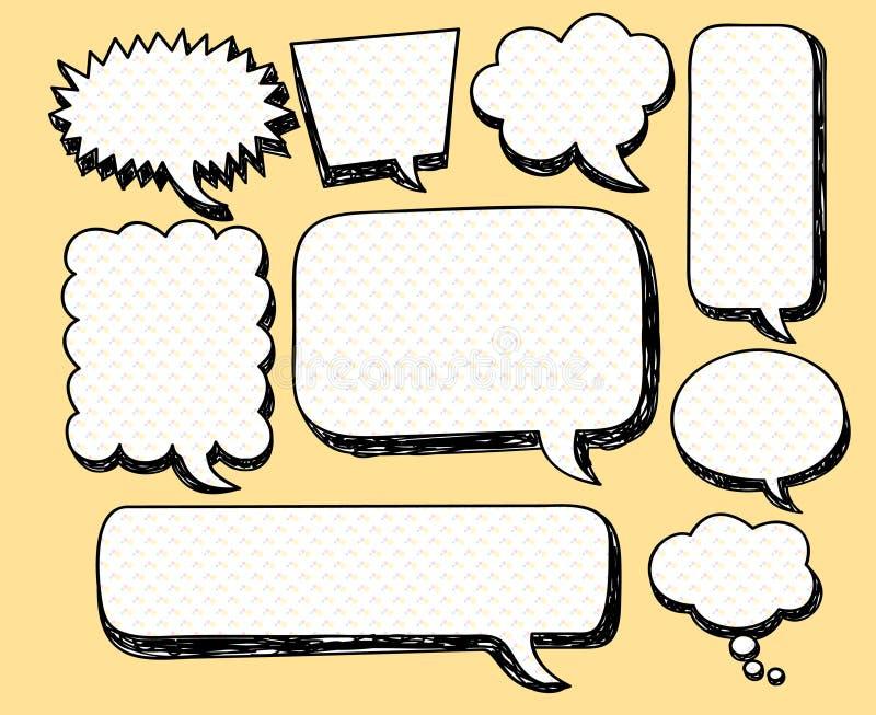 Discurso cómico de la burbuja ilustración del vector