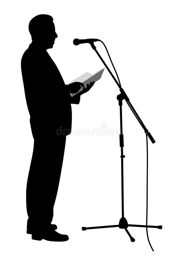 Discurso de público do homem ilustração stock