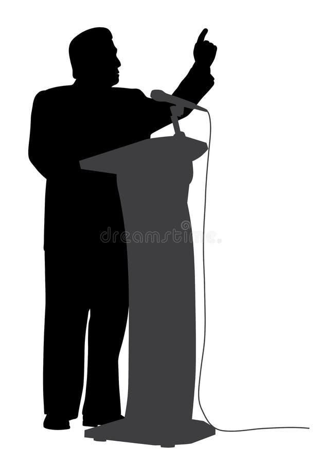 Discurso de p?blico do homem ilustração stock