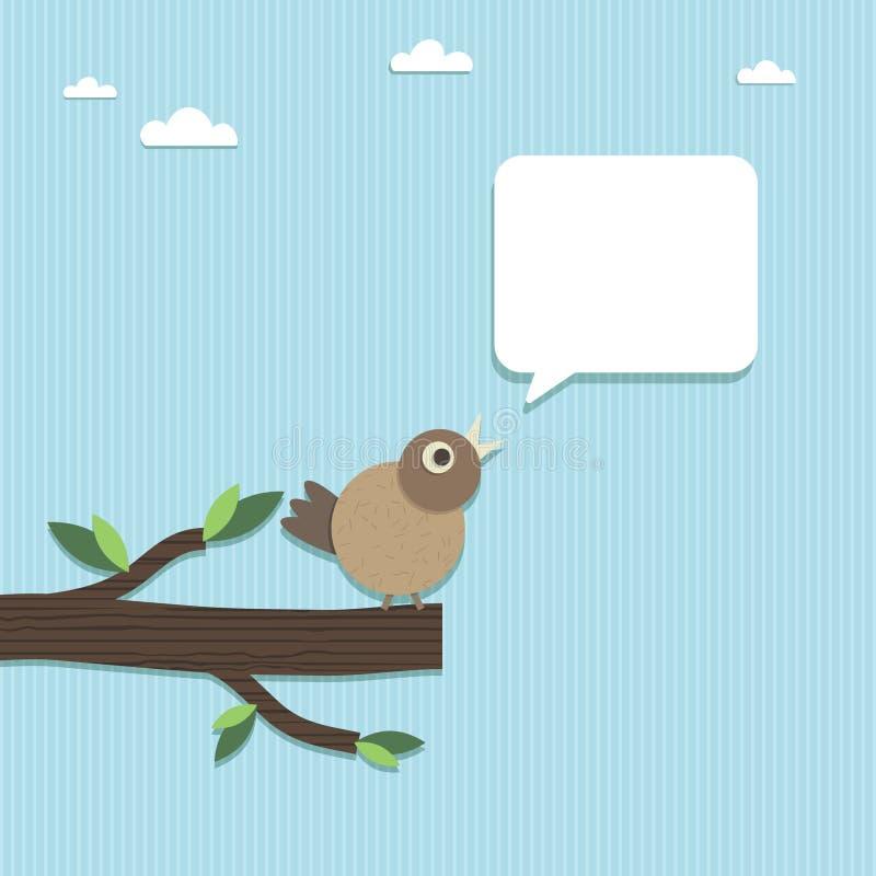 Discurso de papel do pássaro ilustração do vetor