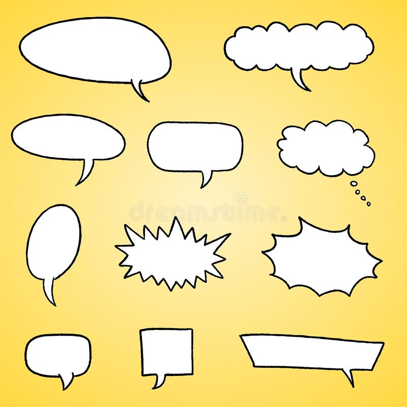 Discurso del cómic libre illustration
