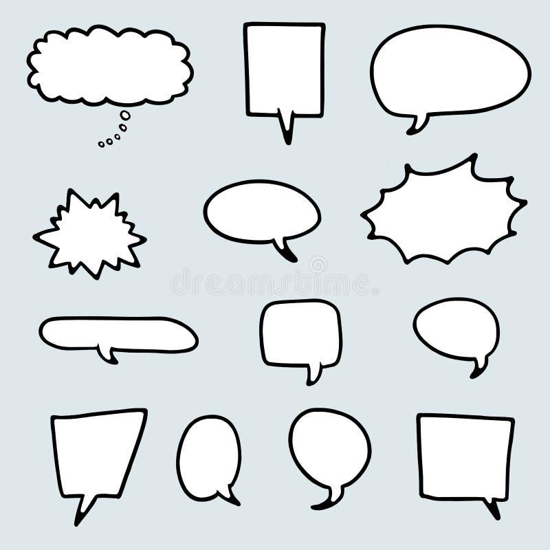 Discurso del estilo de la historieta libre illustration