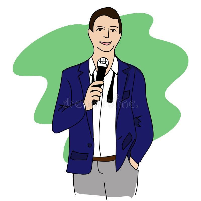 Discurso del hombre stock de ilustración