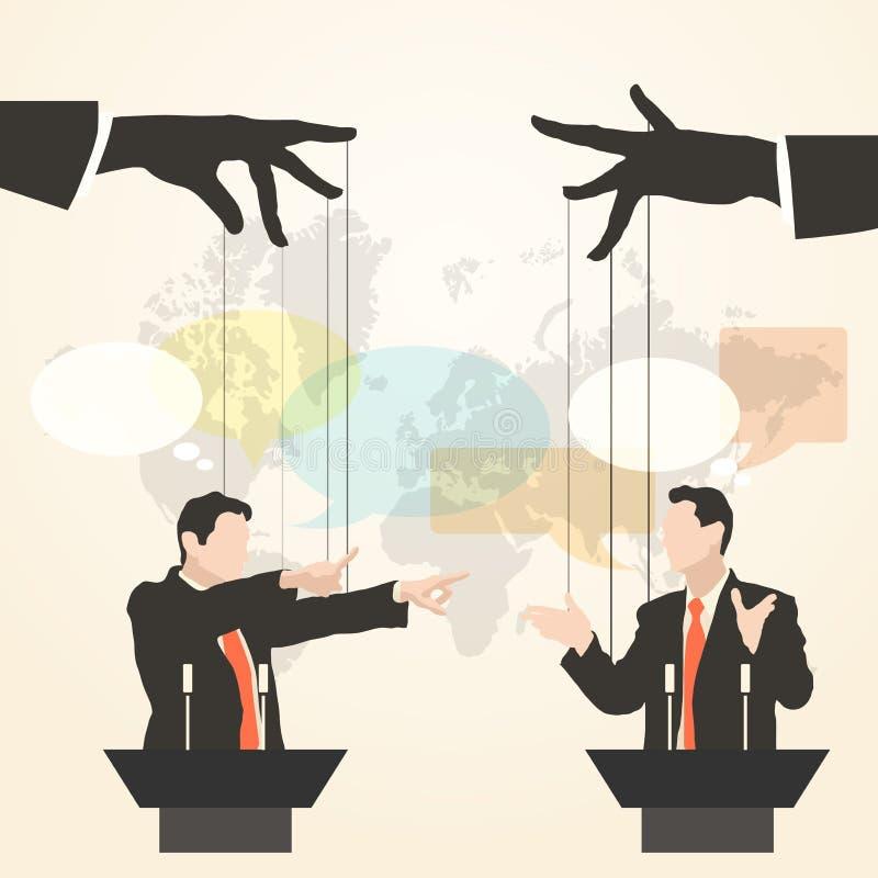 Discurso do debate do orador do homem ilustração do vetor
