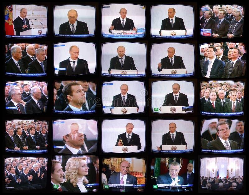 Discurso do presidente de Rússia   imagem de stock royalty free
