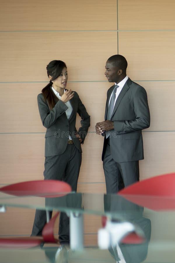 Discurso dos empresários imagens de stock royalty free