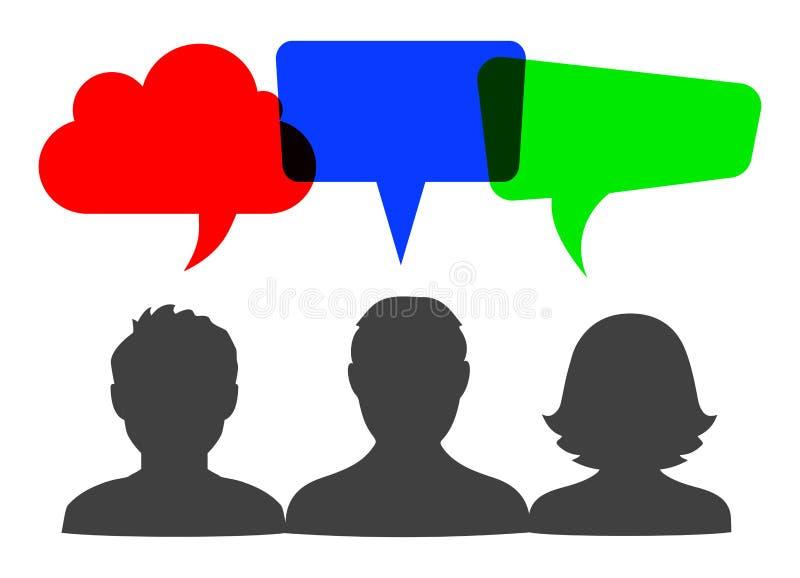 Discurso dos povos, sinal de uma comunicação ilustração stock