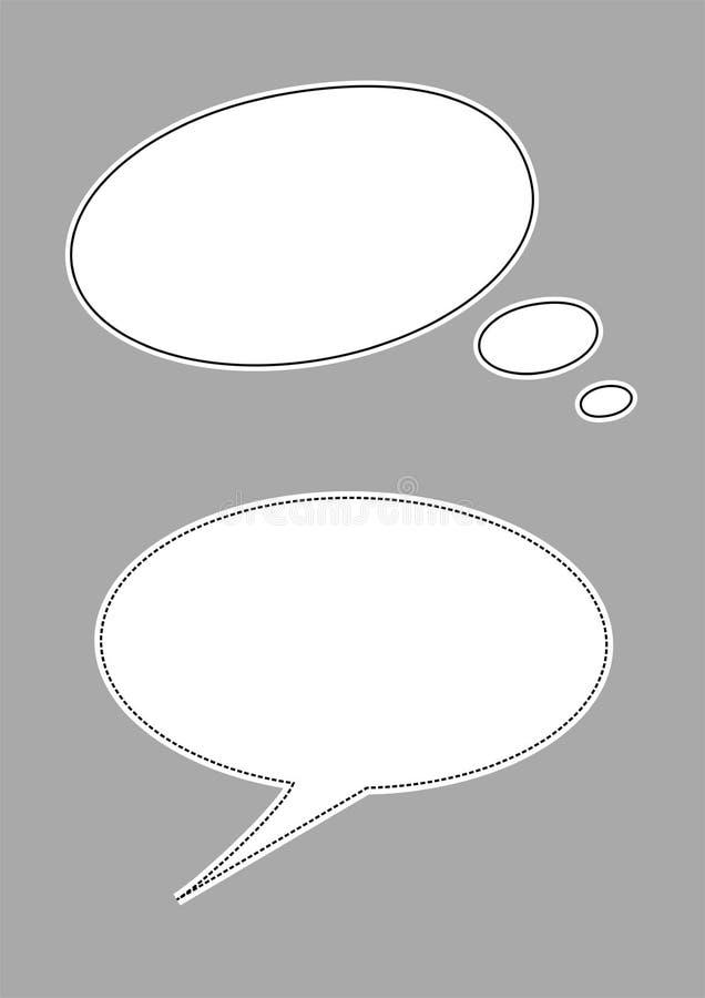 Discurso e balão do pensamento ilustração royalty free