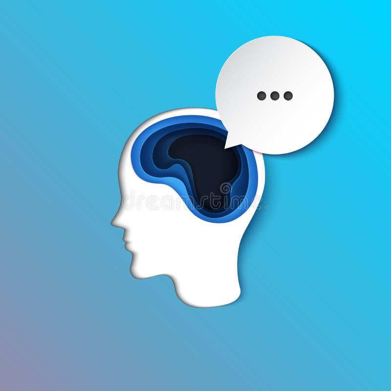Discurso humano del pensamiento y de la burbuja libre illustration