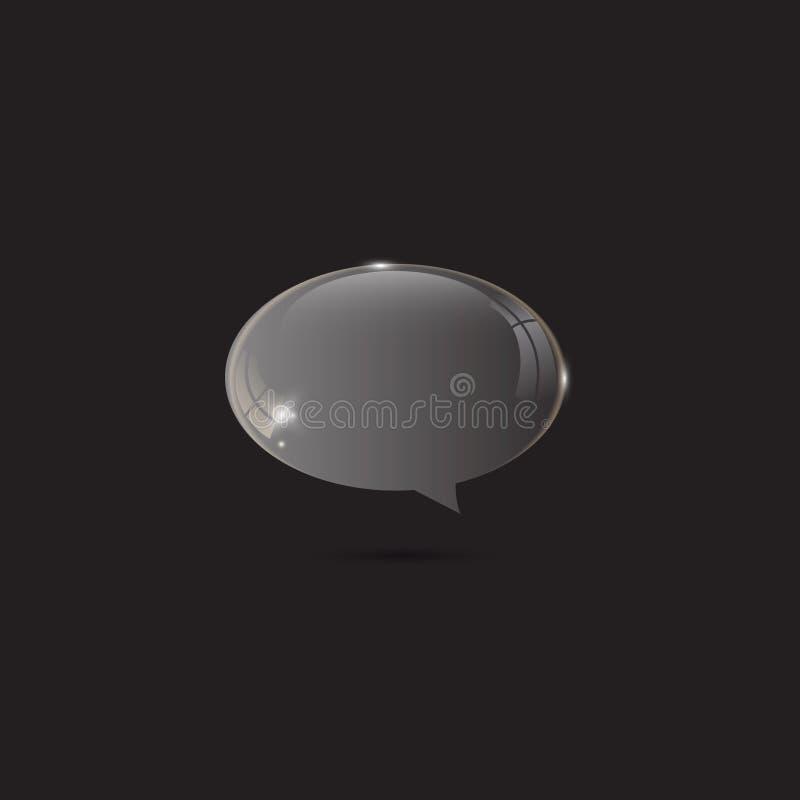 Discurso lustroso de vidro da bolha ilustração stock