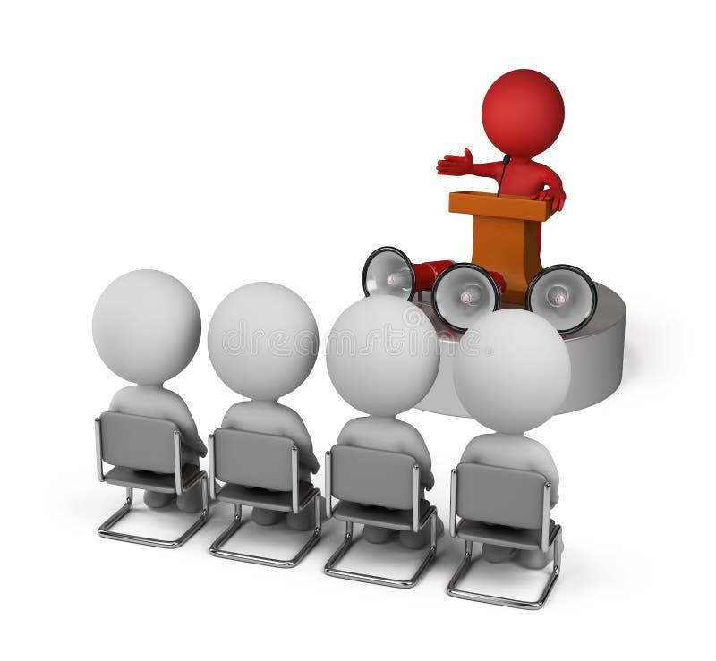 Discurso pelo líder ilustração stock