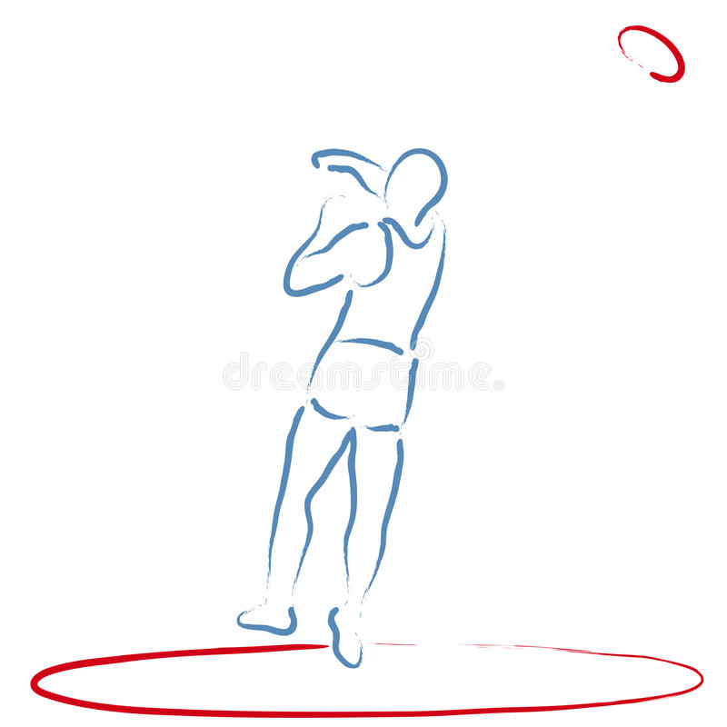 Download Discus Throw stock vector. Image of determination, athlete - 20447393