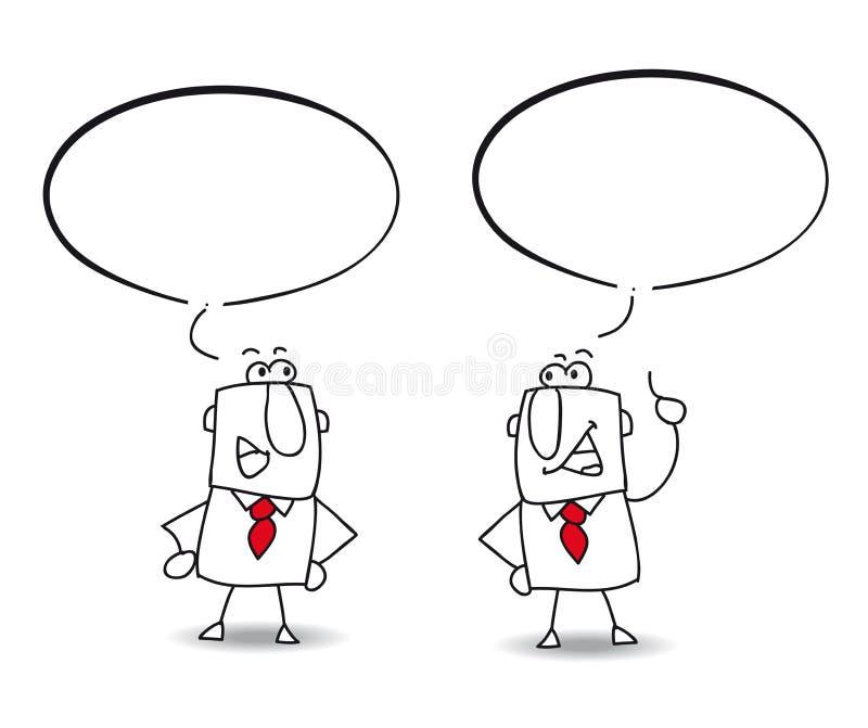 Discusión ilustración del vector