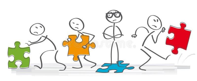 Discusión stock de ilustración