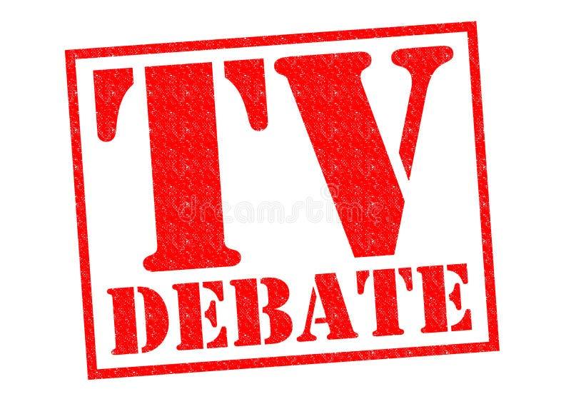 DISCUSIÓN DE LA TV ilustración del vector