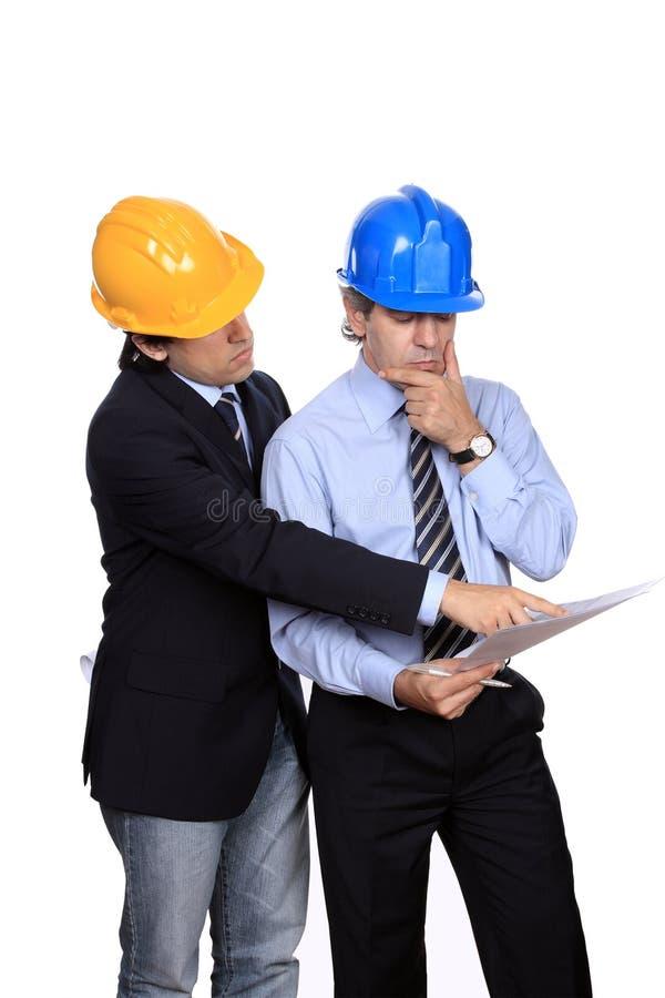 Discusión de los hombres de negocios imagen de archivo