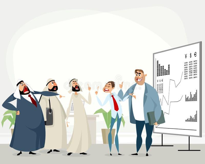Discusión de socios comerciales ilustración del vector