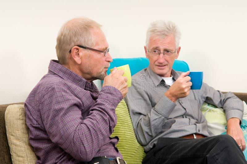 Discusión del café imagen de archivo