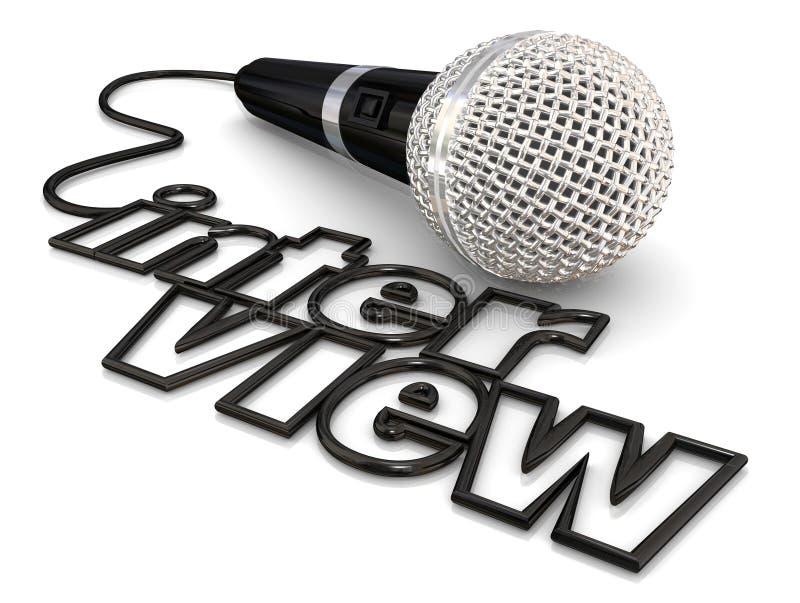 Discusión del podcast de la radio de la palabra del alambre del cordón del micrófono de la entrevista libre illustration