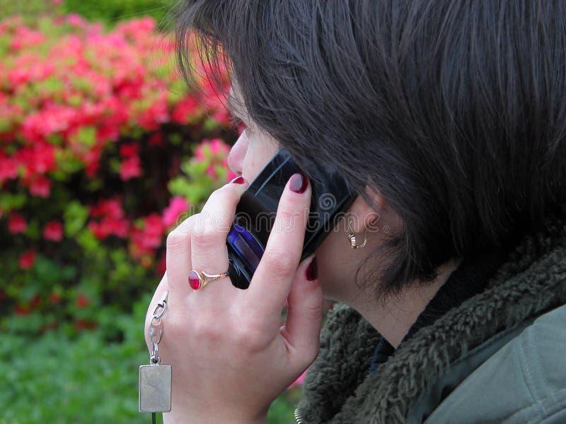 Discusión Del Teléfono Imagen de archivo libre de regalías