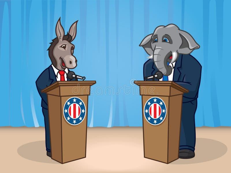 Discusión político ilustración del vector