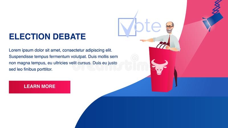 Discusión político de la elección de la escena del hombre del ejemplo libre illustration