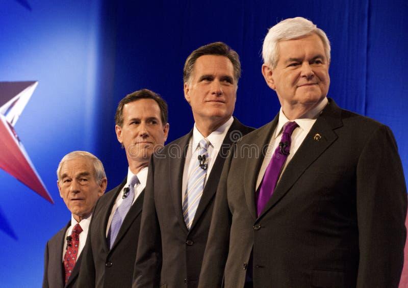 Discusión presidencial republicano 2012 fotografía de archivo libre de regalías