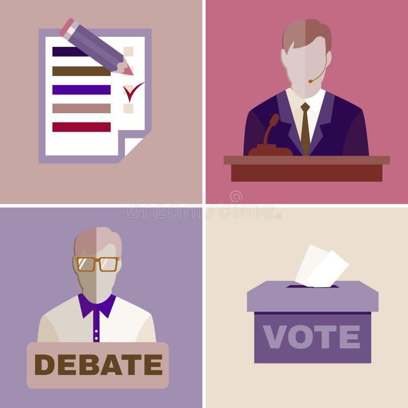 Discusiones de la elección ilustración del vector