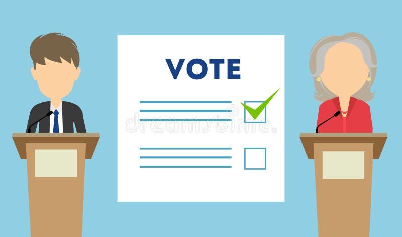 Discusiones sobre la elección stock de ilustración