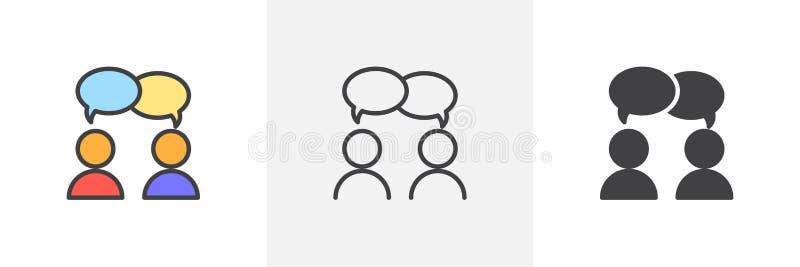 Discussão, ícone da disputa ilustração stock