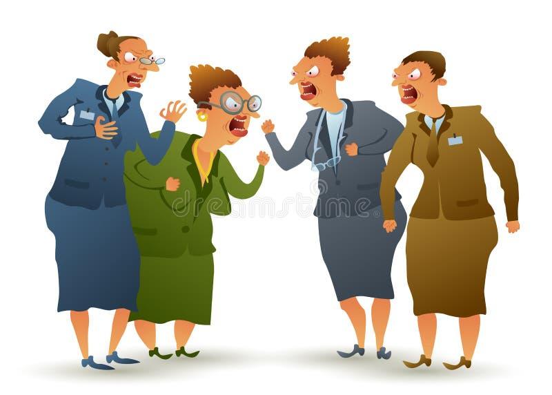 Discussão das mulheres ilustração royalty free
