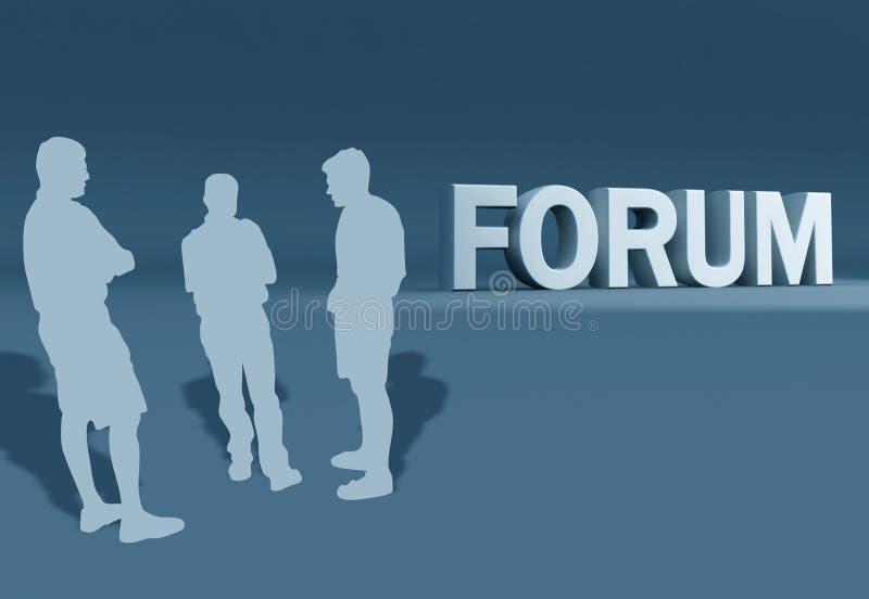 Discussão de grupo do fórum ilustração stock
