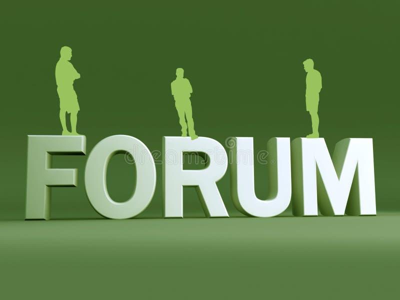 Discussão de grupo do fórum ilustração royalty free