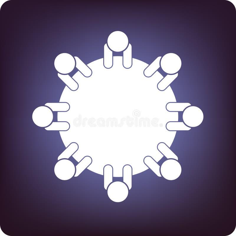 Discussão de mesa redonda ilustração do vetor