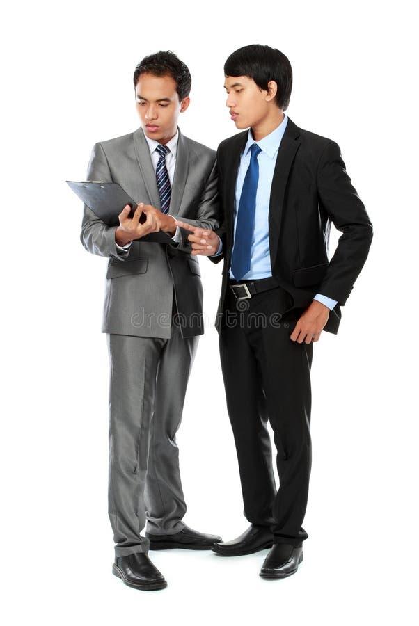 Discussão do homem de negócios fotografia de stock