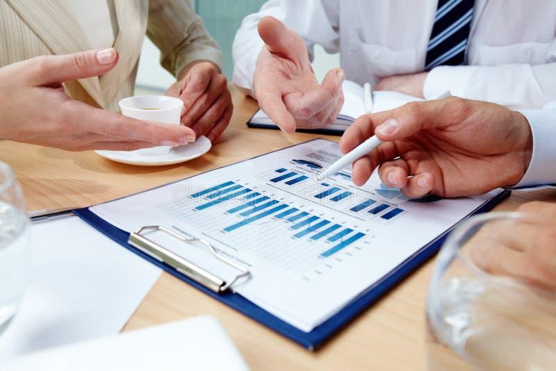 Discussão do negócio imagem de stock