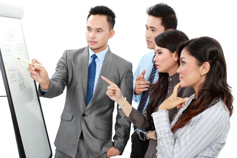 Discussão do negócio imagens de stock