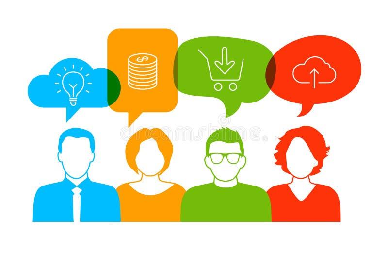 Discussão do negócio ilustração stock