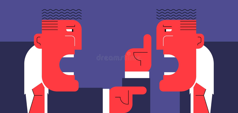 Discussão dura ilustração royalty free