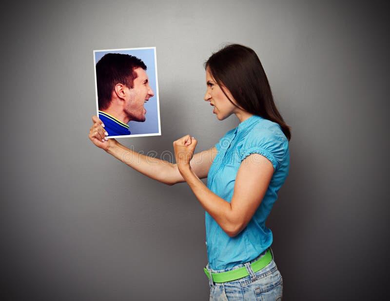 Discussão entre o marido e a esposa fotografia de stock royalty free