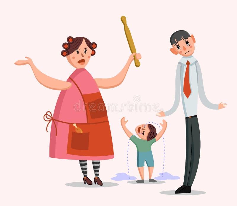 Discussão grande da família ilustração do vetor